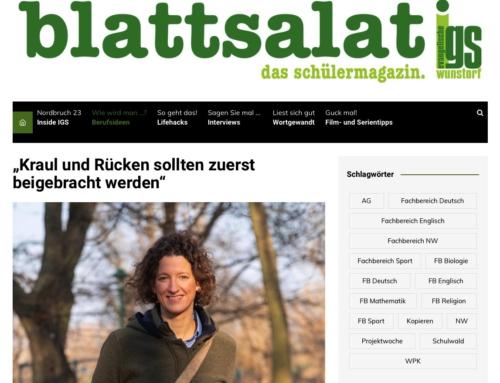 Über die Schwimmerei – Interview mit Schülerzeitung
